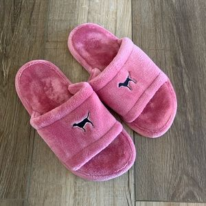 Pink Victoria's Secret Furry Slippers Size 7/8 M